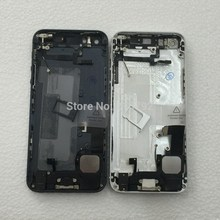 For iPhone 5 Back Battery Housing Cover Assembly with full small parts Black White Gold color free shipping