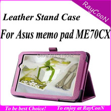 "Stand case for Asus memo pad 7 me70cx, for Asus memo pad 7"" me70cx leather protective cover, for asus memopad 7 me70c cover bag"