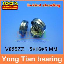 V625ZZ V grooved straightener guide wheel bearings 625VV ABEC-5 V groove pulley roller bearing V120 5*16*5 mm(China)