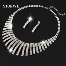 YFJEWE Women's Jewelry mystic Simulated Silver plated Pendant Angel Jewelry Sets Womens Artificial Necklace earring Set N159(China)