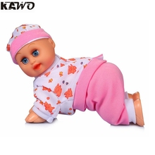 KAWO 8inch Lovely Baby Infant Electric Music Crawling Baby Talking Singing Dancing Doll