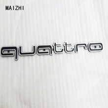 High quality Quattro Logo Emblem Badge Car Stick ABS Stickers front grill Lower trim For Audi A4 A5 A6 A7 RS5 RS6 RS7 RS Q3(China)