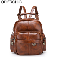 OTHERCHIC Women Vintage Small BackpackLeather Stylish Purple Backpack For Teenage Girls Female Backbag Sac A Dos L-7N07-96(China)