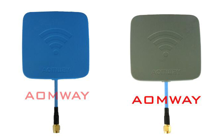Aomway 5.8GHz 14dBi Flat High Gain Antenna Directional Antenna for FPV Receiver RC model Gray Inner Hole RP-SMA Blue SMA <br><br>Aliexpress