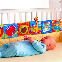 2017 Colorful Baby Bumper Cloth Book Knowledge Bed Around Crib Bed Protector Multifunction Fun Toy Bedding Sets Crib Bumper
