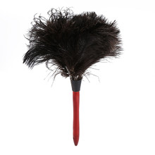 Car Dust Cleaner Household Furniturer Natural Ostrich Feather Duster Brush With Wooden Handle Home Furniture Cleaning Tool