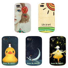 2017 Unique Design Cartoon Cute Phone Case Skin Cover White Hard Case Cover For Blackberry Q10 Case