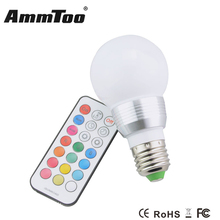 E27 RGB LED Light Lamp 85-265V Led Bulb Spotlight Colorful Christmas Decor Lights Magic Lighting Timing Function(China)