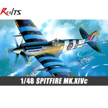 RealTS Academy 12274 1/48 Spitfire MK. XIV-C Aircraft Plastic Model Kit