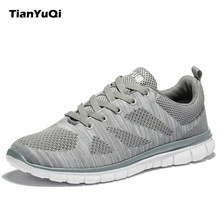 TianYuQi Men Running Shoes Breathable Sneakers Lightweight Sport Shoes Outdoor Brand Athletic Walking Textile Shoes For Man