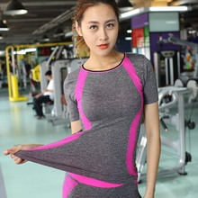 Athletic Tights Yoga Tank Top Quick Dry Sport T-Shirt Sport Jerseys T Shirt Women Sportswear Running Vest Gym Fitness Yoga Top