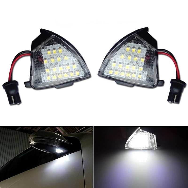 A pair White LED Under Side Mirror Puddle Light Fit For VW EOS GTi Passat b6 Jetta Golf 5<br><br>Aliexpress