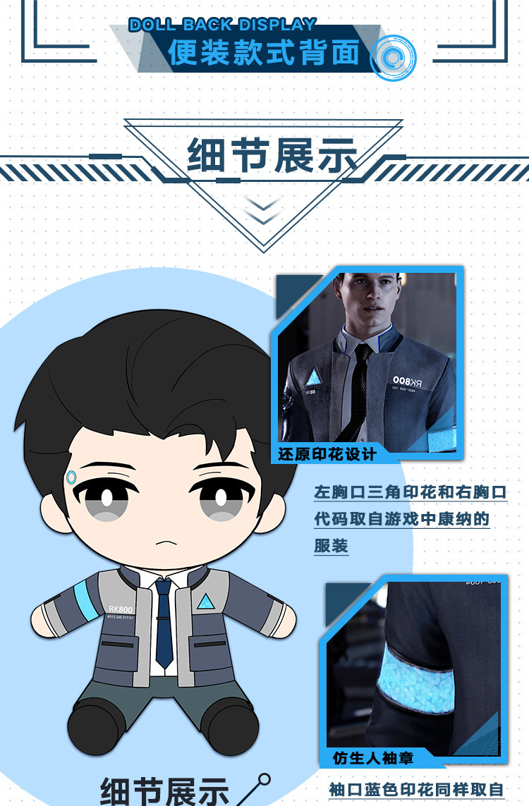 Detroit become human Connor uniform RK 800 (5)
