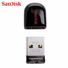 100% Original SanDisk CZ33 mini USB Pen Drive 8GB / 16GB /32GB USB 2.0 Flash Drive Super Tiny U Disk Portable Storage USB Stick