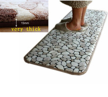 Memory Foam Bathroom Floor Mat Doormats Balcony Kitchen Mats Living Room Bath Carpet Bedroom Rugs Anti-slip Footcloth