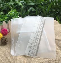 3 pcs PVC storage bag Accessory set card bag A5 A6 spiral notebook zipper bill pocket insert loose leaf diary ring binder filler(China)