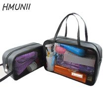 Transparent Cosmetic bag bathroom cosmetics organizer transparent travel bag Wash Toiletry Bag