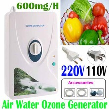 Ozone Generator Water 220V 110V 600mg/h Ozonator ionizer sterilizerTimer Air Purifiers Vegetable Skin Care Beauty Tool Massage