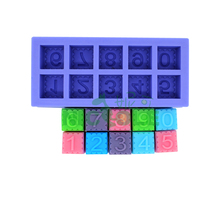 new  figure number digit square silicone soap mold ,candle molds ,molds for cakes cake decorating tools kitchen Salt carving