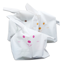50Pcs/lot White Rabbit Ears Bag For Dessert Bread Toast Packaging Bags Snacks Cake Candy and Cookie Packing Storage Bags