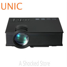 UNIC UC40+ LCD Projector 800LM 800 x 480 Pixels with HDMI AV USB SD Card VGA Input