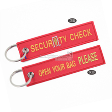 """ Security Check, Please Open Your Bag""  Bag Tag  Luggage Red  Airport Workers Flight Crew Aviation Lovers Unique Gift"