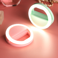 Fashion USB Charge Selfie Ring Lights Clip-on Cellphone Ring Light 36 LED Fill-in Lighting 3 Level Brightness for iPhone Samsung