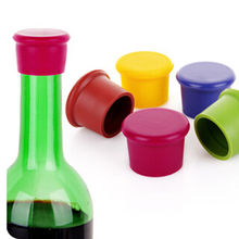 Bargain Wine Bottle Stopper Silicone Bar Tools Preservation Wine Stoppers Kitchen Wine Champagne Stopper Beverage Closures