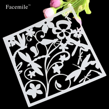 Free Shipping DIY Album Masking Spray Painted Template Rose Flower Scrapbooking Tool Card Drawing Stencils Laser Cut Template