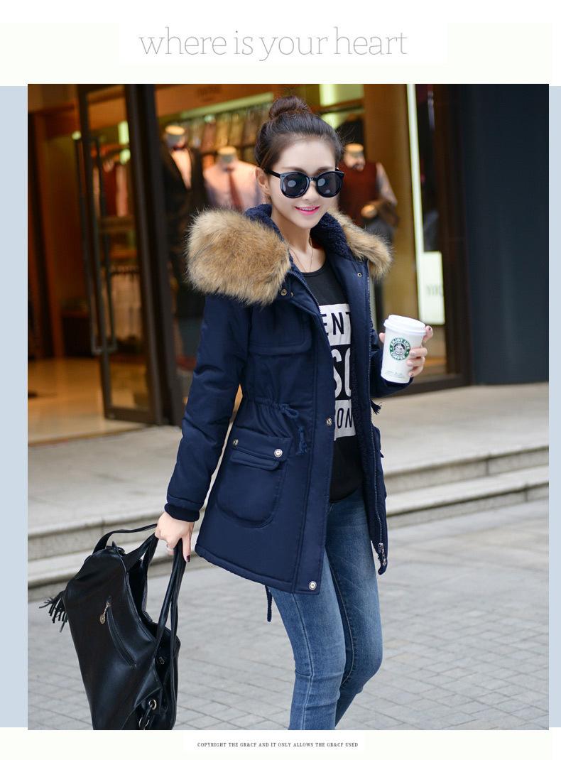 معطف السيدات متوسطة الطويلة 13