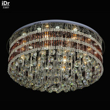 Circular living room bedroom Crystal Light Rose Red LED low-voltage glass rod Ceiling Lights Rmy-0131