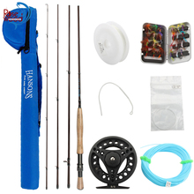 RoseWood 5/6 Carbon Fly Fishing Rod 2.7m 4 SEC Fishing Rod And Reel Combo Line Bag With Flyfishing Lure Kit Box Vara De Pesca(China)