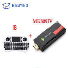 Android TV Box MK809 IV RK3188T Quad Core Mini PC Wifi 2GB 8GB Built-in Bluetooth IPTV + I8 Keyboard air mouse touchpad remote