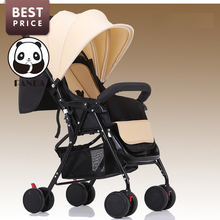 2017 Babypanda store baby tricycle children strollers for babies lightweight travel children bicycles with seat cover khaki