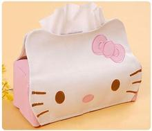 Length 23CM PU Hello KITTY Winnie the Pooh Cute Home Car Tissue Case Box Container Towel Napkin Papers BAG Holder BOX Case Pouch
