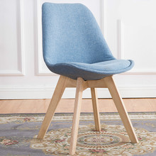Modern Design Solid Wood Dining Chair Leisure Modern Simple Backrest Creative Household Coffee Chair(China)