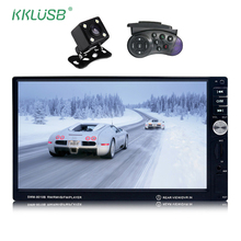 12v Car Audio autoradio 2 Din Car Models 7'' inch LCD Touch Screen Car Radio stereo Player Bluetooth Support Rear View Camera(China)