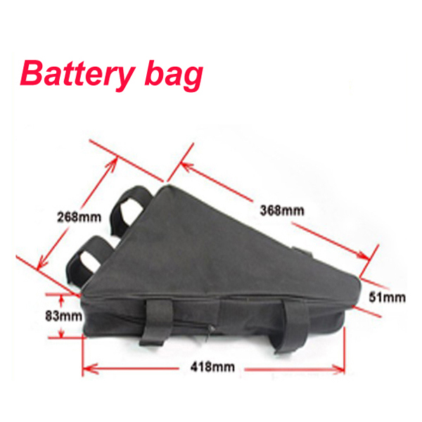 48V E Bike Triangle battery 48V 30AH Lithium battery with 30A BMS and 54.6V 2A Charger For Samsung cell
