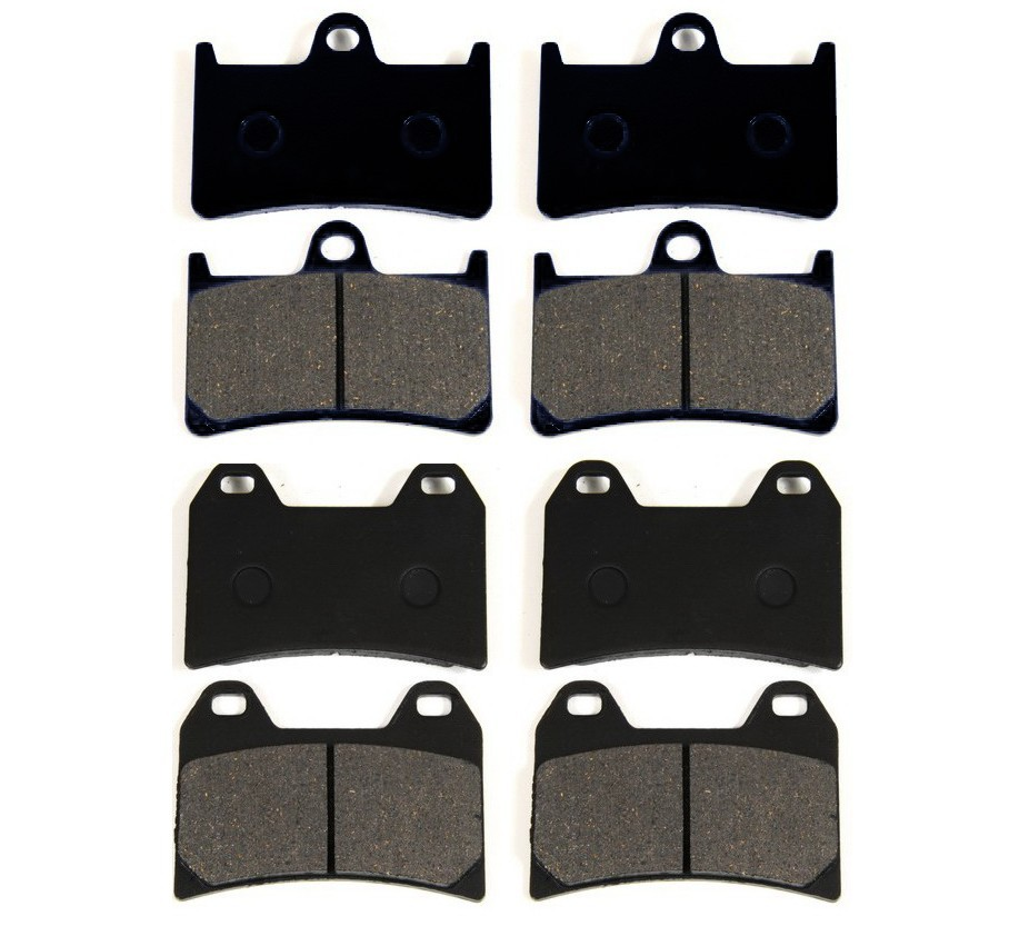 8 BRAKE PADS Fits YAMAHA XV1700 ROAD STAR Midnight silverado free shipping<br>