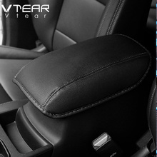 Vtear For KIA Sportage QL armrest box cover mat interior black thread car-styling decoration products accessory part 2016-2017