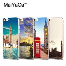 Travel Dream London Big Ben Pattern Transparent TPU Soft Cell Phone Protective Cover For iPhone 4s 5s 6s 7 7plus case
