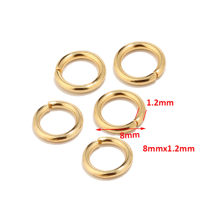 100pcs High Quality Gold Tone Stainless Steel Jump Rings for Jewelry Making Supplies Findings and Necklace Earring Repairs 5mm