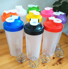600ml BPA free Blender Shake Gym Protein Shaker Mixer Cup Drink Whisk Bottle TR Plastic shaking cups of kitchen tool