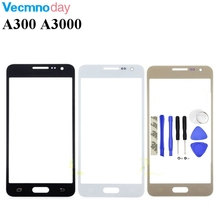Vecmnoday Touch Screen Lens Samsung Galaxy A3 2015 A300 A3000 A300F A300H Front Outer Glass Cover Panel Replacement + Tools