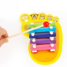 BOHS Wooden Glockenspiel Toy Baby Foot Hand Knocking Piano 5 Scales Piano Toy Pentameter Educational  0 - 3 years old