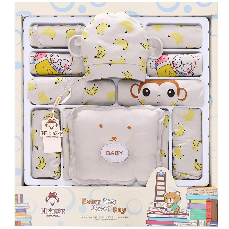 21pcs/Set newborn baby boy girl clothes Banana Monkey  clothing for babies<br>
