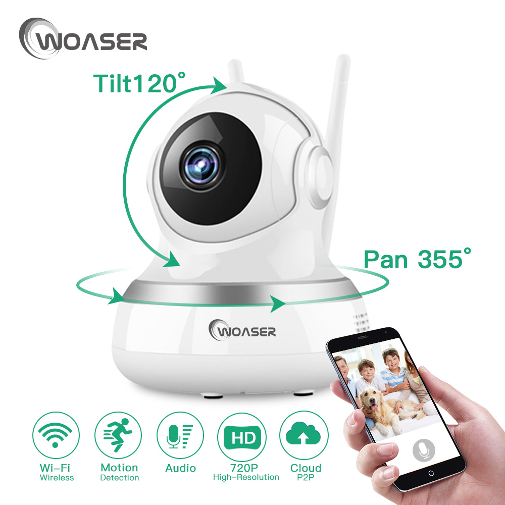 WOASER 720P WIFI IP Camera Home Security 1.0MP CCTV Video Surveillance P2P New WiFi Two Way Audio  Wireless Camera With IR-Cut<br>