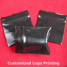 Wholesale 4x5cm 300pcs/lot Zip-Lock Plastic ,Mini Recycled Black Jewelry Gift Packaging Bags Free Shipping