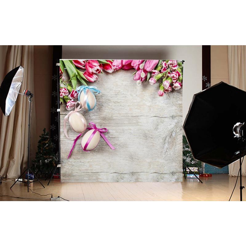 1.5X1.5M happy Easter photography backdrops printed with eggs and flowers for taking photos for kids GE-120<br><br>Aliexpress