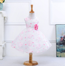 wholesale 2017 summer flower kids clothing princess dress children Party dress Personalized fashion princess dress S001(China)